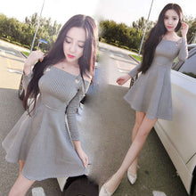 Checked Boat-neck Strap Dress-Dresses-[korean fashion]-[korean clothing]-[korean style]-SOO・JIN