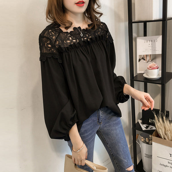 GARDEN Chiffon Blouse - korean clothing and fashion