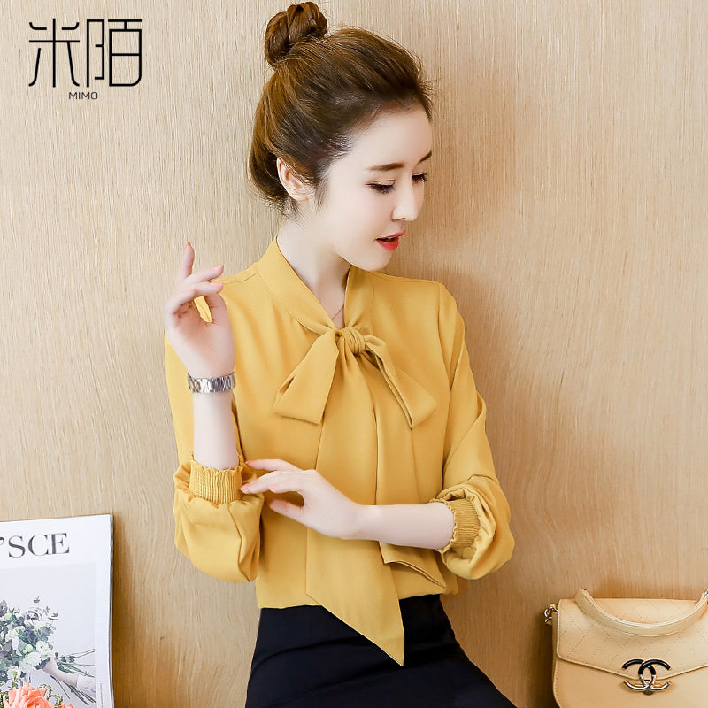 Mini Look Bow Tie Blouse-Blouses & Shirts-[korean fashion]-[korean clothing]-[korean style]-SOO・JIN