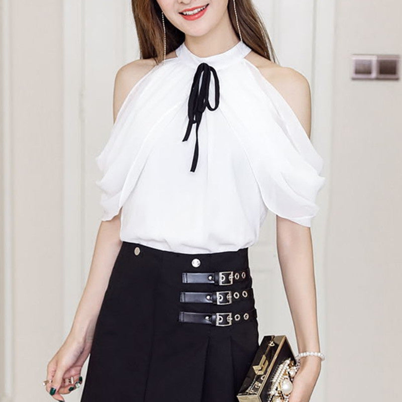 Curtain Drape Sleeveless Top-Blouses & Shirts-[korean fashion]-[korean clothing]-[korean style]-SOO・JIN
