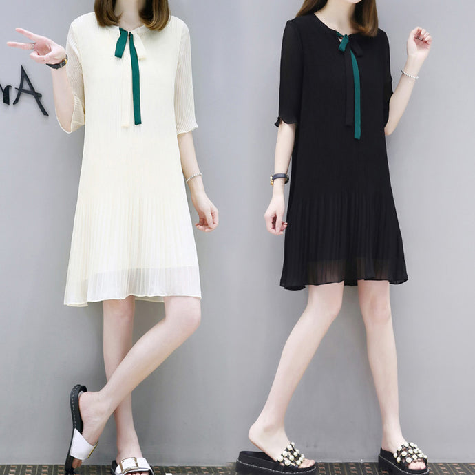 Bow Tie Summer Dress-Dresses-[korean fashion]-[korean clothing]-[korean style]-SOO・JIN