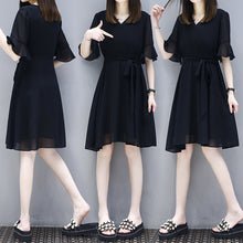 PLUS SIZE Black Dress-Dresses-[korean fashion]-[korean clothing]-[korean style]-SOO・JIN