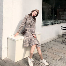 Playful Look Checkered Dress