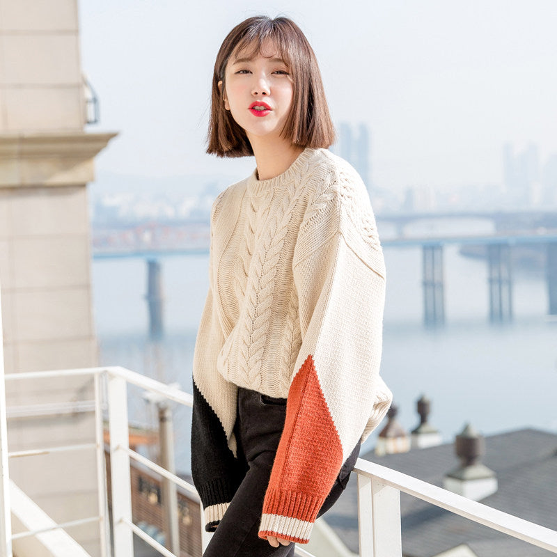 Long Sleeve K Style Pullover-Cardigans-[korean fashion]-[korean clothing]-[korean style]-SOO・JIN