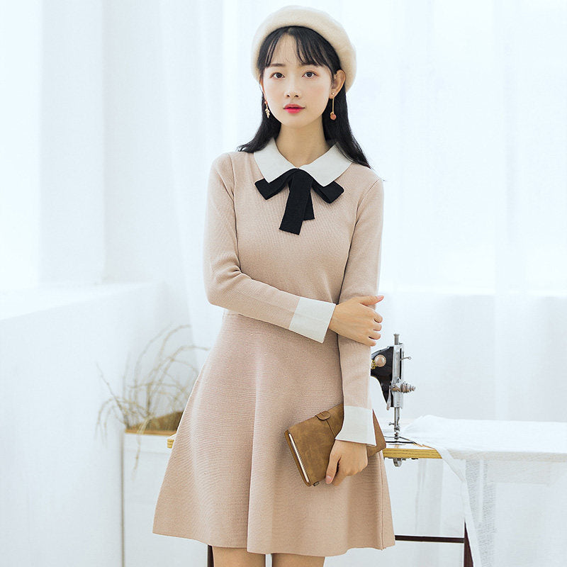 Preppy Collar & Tie Dress