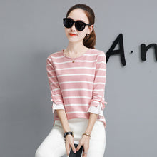 Striped Tie-Cuff Shirt - korean clothing and fashion