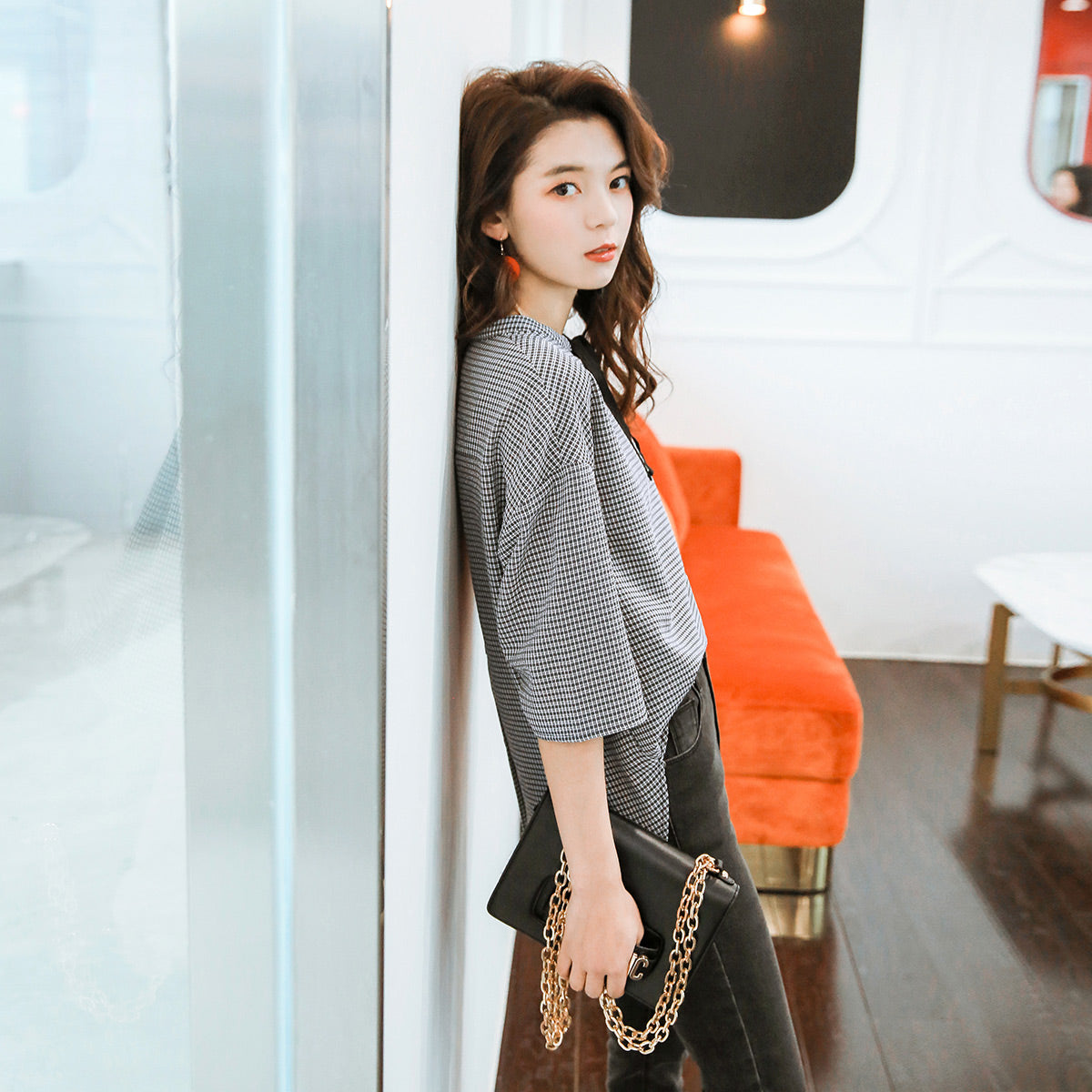 Bow-Tie Loose Fit Tunic-Blouses & Shirts-[korean fashion]-[korean clothing]-[korean style]-SOO・JIN