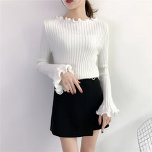 Ruffle Sleeve Stretchy Pull-Over