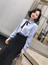 Preppy Style Tie Shirt-Blouses & Shirts-[korean fashion]-[korean clothing]-[korean style]-SOO・JIN