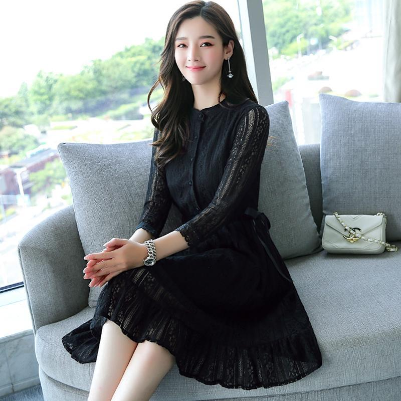 2019 Fine Mesh Dress-Dresses-[korean fashion]-[korean clothing]-[korean style]-SOO・JIN