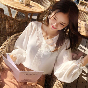 Bell Sleeve Chiffon Top-Blouses & Shirts-[korean fashion]-[korean clothing]-[korean style]-SOO・JIN