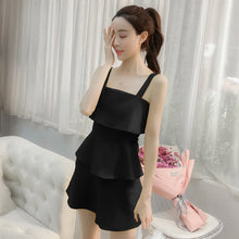 Layered Strap Dress - korean clothing and fashion