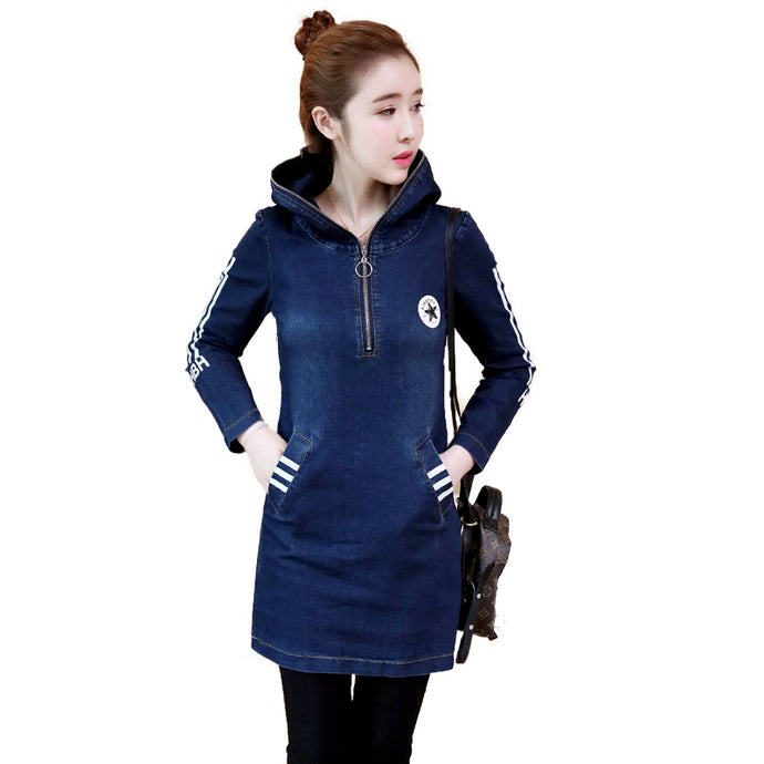 Zipper Hoodie Dress-Dresses-[korean fashion]-[korean clothing]-[korean style]-SOO・JIN