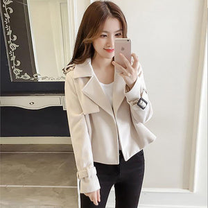 Solid Lapel Coat Jacket-Jackets & Coats-[korean fashion]-[korean clothing]-[korean style]-SOO・JIN