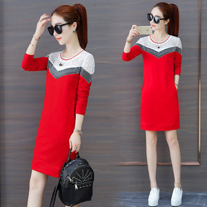 Varsity Style Dress-Dresses-[korean fashion]-[korean clothing]-[korean style]-SOO・JIN