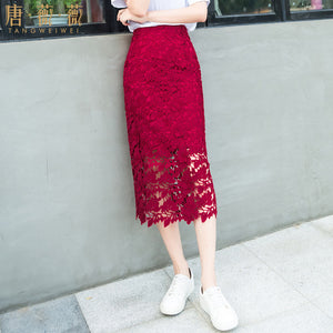 Water-Soluble Lace Skirt