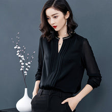 Open Collar Black Top