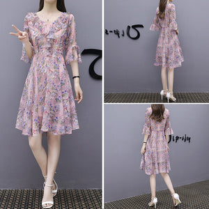 A-Line Summer Dress-Dresses-[korean fashion]-[korean clothing]-[korean style]-SOO・JIN