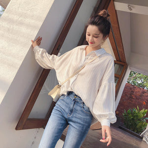K Style Oversized Shirt-Blouses & Shirts-[korean fashion]-[korean clothing]-[korean style]-SOO・JIN