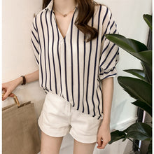 Striped Casual Collar Top