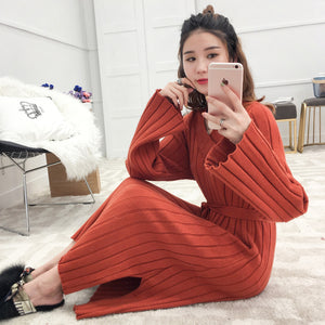 Loose Style Pullover Dress-Dresses-[korean fashion]-[korean clothing]-[korean style]-SOO・JIN
