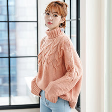 Thick Knit Turtleneck Pullover-Cardigans-[korean fashion]-[korean clothing]-[korean style]-SOO・JIN