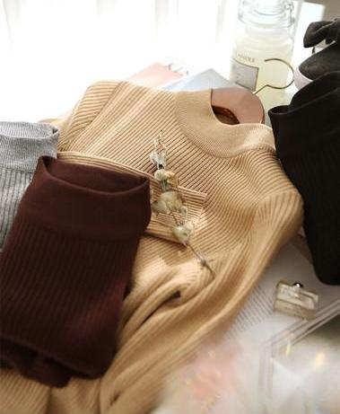 High Collar Pull-Over-Cardigans-[korean fashion]-[korean clothing]-[korean style]-SOO・JIN