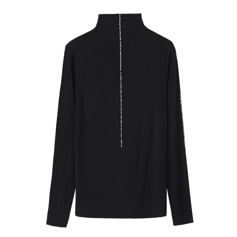 Stretchy Half Turtleneck Top-Blouses & Shirts-[korean fashion]-[korean clothing]-[korean style]-SOO・JIN