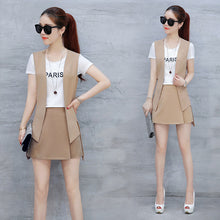 Vest & Mini Skirt Combo-Dresses-[korean fashion]-[korean clothing]-[korean style]-SOO・JIN