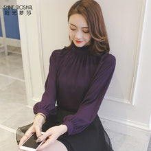 Simple & Nice Ruffle Blouse-Blouses & Shirts-[korean fashion]-[korean clothing]-[korean style]-SOO・JIN