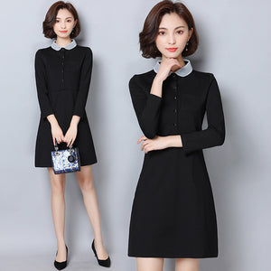 Preppy Collar Dress 2-Dresses-[korean fashion]-[korean clothing]-[korean style]-SOO・JIN