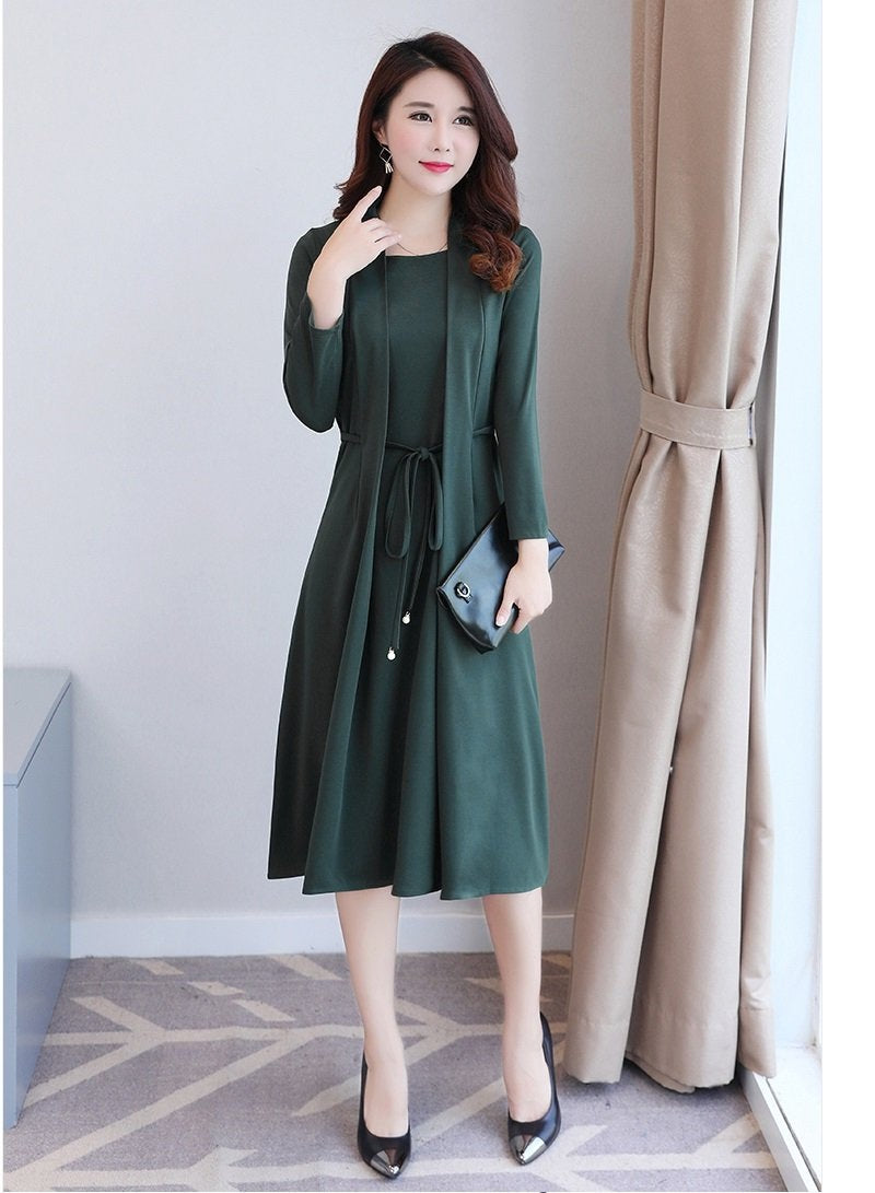 Bold Look Long Dress-Dresses-[korean fashion]-[korean clothing]-[korean style]-SOO・JIN