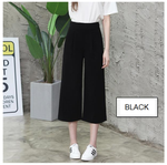 Multi-Size Elastic Capris - korean clothing and fashion