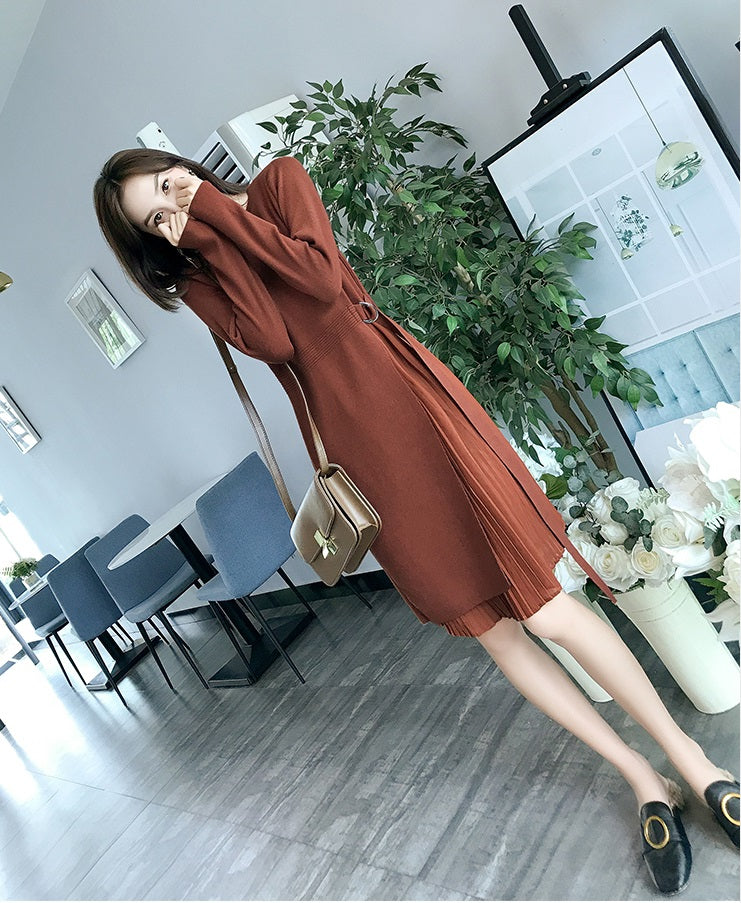 Pleated Layer Dress-Dresses-[korean fashion]-[korean clothing]-[korean style]-SOO・JIN