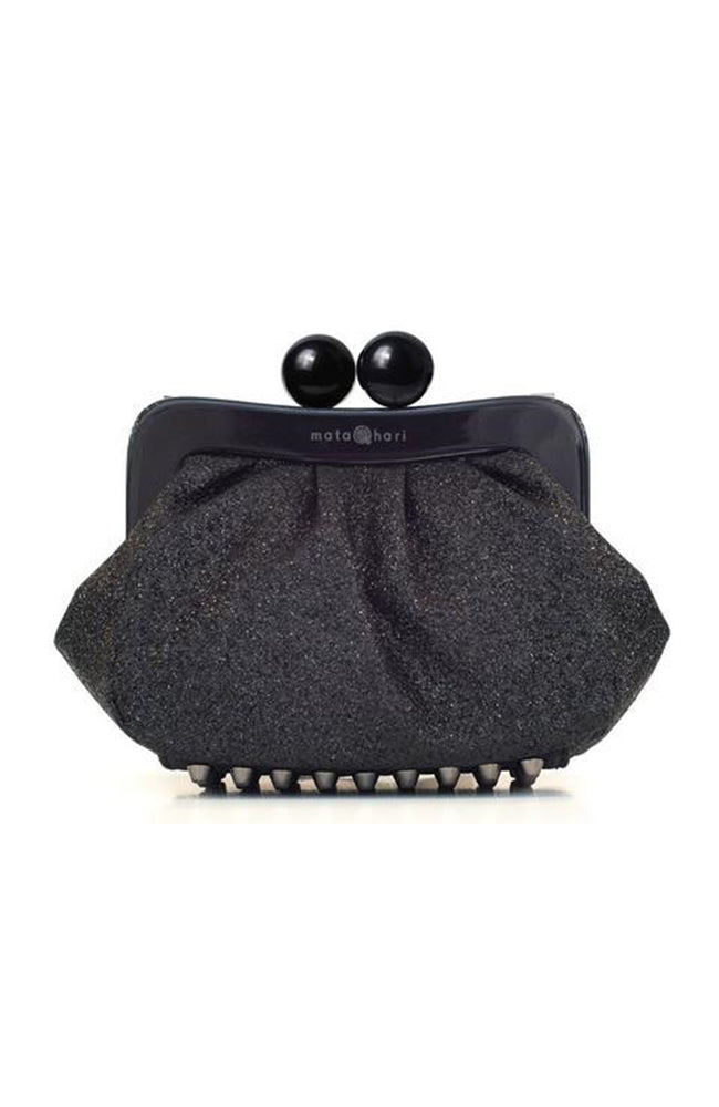 AMY Clutch - Black Glitter