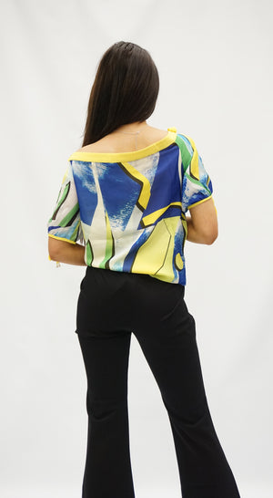TOP - YELLOW PATTERN