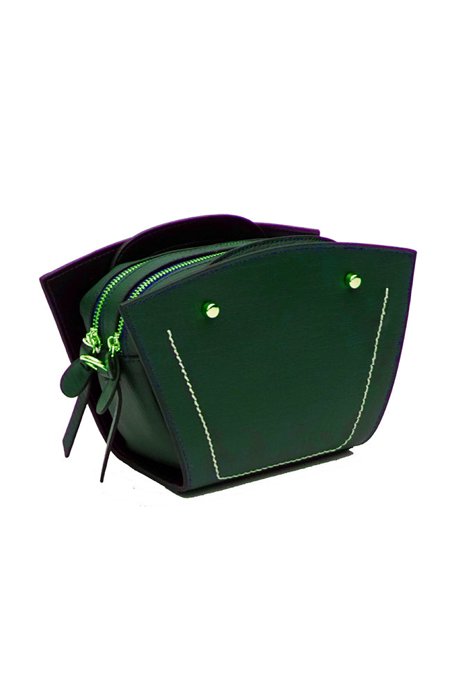 BC VOGA Smiling Face Dark Green Bag
