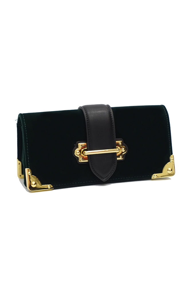 BC VOGA Clutch Dark Green Bag