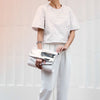 JUDY for mata hari Clutch  - White