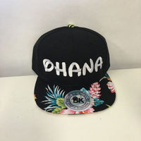 Ohana Family Snapback Hat Black and Hawaiian Floral Multi-Color One Size