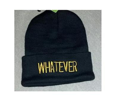 "Whatever 12"" Black Beanie"