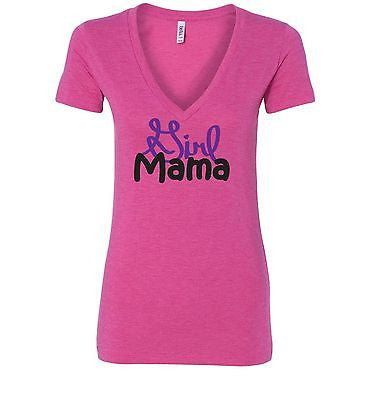Girl Mama Mom Life Bella Ladies Shirt V-neck T-shirt