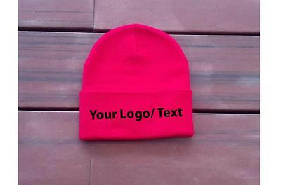 "Your Print on 3 - 12"" Beanie Custom Embroidery"