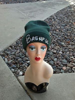 Bashful Seven Dwarfs Hat Custom Embroidery Beanie Knit Knitted Black White