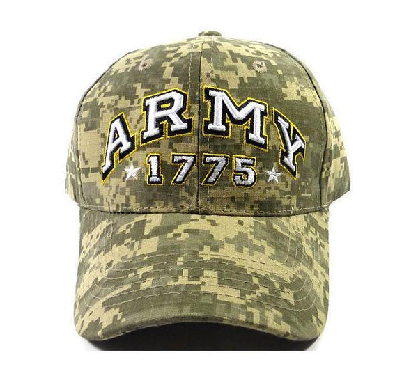 ARMY Custom Embroidery Camo Black Snap back Flat Bill Hat Black Cap