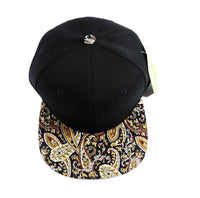 Custom Paisley Snapback Festival Brown Tan Black Colors Multicolor Snap Back