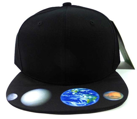 Custom Galaxy Snapback Planets Cosmic Stars Colors Multicolor Snap Back