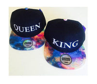 Custom Galaxy King and Queen Snapback Cosmic Stars Colors Multicolor Snap Back