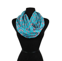 Custom Cross Scarf, Wrap, Infinity, Pattern Infinity Scarves Blue and Pink