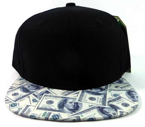 Custom Embroidery Black and Money Snapback Cash Rich Hat